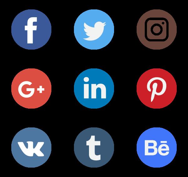 sociala ikoner i header